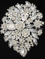 Gorgeous  Women Party Jewelry Rhinestone Floral Flower Brooch Broach Pin (More Colors)
