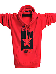 Zian® Men's Round Neck Pullover Hoodies Keep Warm Pentagram Print  Fashion Solid Color Long Sleeves Cotton Fleece