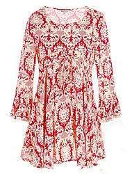 fahion manga longa vestido de Abigail mulheres em torno do pescoço