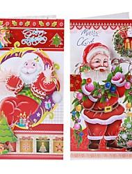 8 PC navidad tarjetas postales de vacaciones tarjetas de felicitación swith sobres - multicolor (8 piezas)