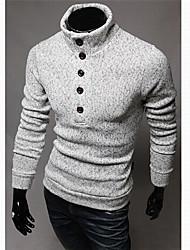 cuello tortuga delgada capa suéter géneros de punto de los hombres Manba