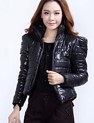 abrigo de manga larga vaina cuello alto de la moda de Darcy mujeres