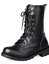 Women's Shoes Combat Boots Chunky Heel Mid-Calf Boots