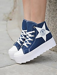Women's Shoes Round Toe Platform Canvas Fashion Sneakers Shoes More Colors available