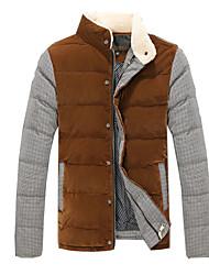 doudoune hiver soie de la mode épais coton rembourré veste des hommes