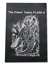 o falsh tatuagem oriental para a arte corporal tatuagem