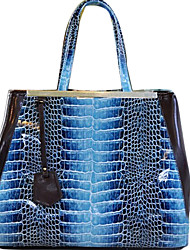 BlKl Korean Fashion Krokoprägung Sack (blau)