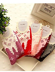 Сезон zhuoshang женщин и утолщаются теплый чулки кролик шерстяные носки A001 бантом случайный цвет