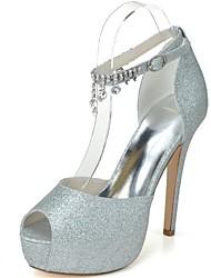 Women's Wedding Shoes Heels/Peep Toe/Platform Heels Wedding/Party & Evening Blue/Pink/Silver/Gold