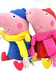 Winter Peppa Pig Baby Pepe George Stuffed Toy Plush Doll (2pcs/lot)