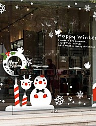 Weihnachtsdekoration Wandaufkleber Wandtattoos, Schneeflocke Weihnachts PVC-Wandaufkleber
