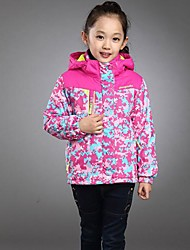 Children's Flora Print Casual Sport Jacket(Removeablce Hat)