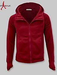 MANWAN WALK®Men's Unique Design Sleeve with Glove Jacket.Casual Slim Solid Hooded Coat.
