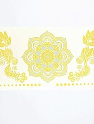 1PC Gold Flower Totem Peony Super Waterproof Tattoo Pattern Temporary Tattoo Sticker for Body Art