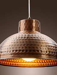 Antique Brass Finished Bowl Metal Pendent