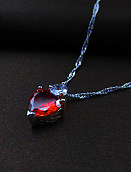 Love Story Women's Fire Heart Pendant
