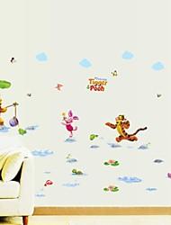odisseia ™ parque aquático Winnie the Pooh impermeáveis removíveis adesivos de parede