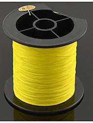 0,5 milímetros linha de pesca resistente à abrasão (200 metros de comprimento, 40,2 kg, amarelo)