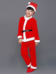 Boy's Santa Suit Kids Christmas Costume