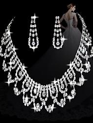 moda diamante doces conjuntos femininos de link: colar e brincos (venda julgamento; ações: 1)