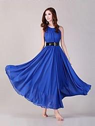 coolcube vestido sin mangas de la gasa de oscilación de la moda de las mujeres
