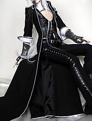 Accesorios Punk Lolita Cosplay Vestido  de Lolita Negro Un Color Poeta Lolita Abrigo Chalecos Pantalones Guantes porCuero Tela de