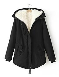 Women's Hoodie Lamb Fur  Leisure Cotton Coat