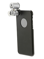 60x Microscope Lens with Black PC Back Case for iPhone 6