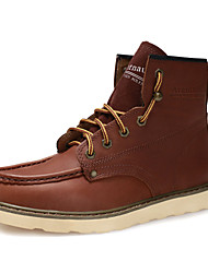 Men's Shoes Casual Leather Boots Brown/Mahogany