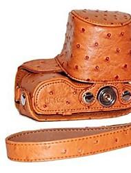 pajiatu® estuche protector desmontable de la PU de cuero de avestruz cámara textura cubierta de la bolsa con correa para el hombro para Samsung NX2000