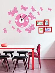 Wall Clock adesivos adesivos de parede, belas borboleta em pvc adesivos de parede