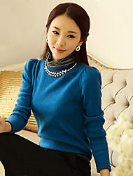 monika vrouwen dikker lange mouw blouses