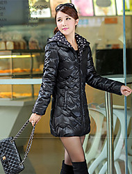 Women's Coats & Jackets , Cotton Casual Long Sleeve Winter