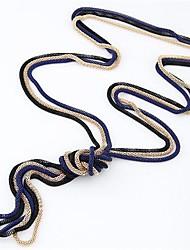 Femme Colliers Vintage Serpent Alliage Mode Simple Style Noir Rouge Bleu Rose Doré Bijoux Pour Quotidien 1pc