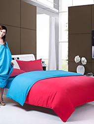 azul de poliéster de color rojo rey edredón sistemas de la cubierta