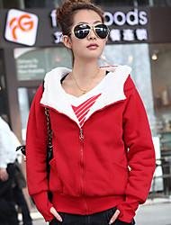 causal cardigan espessamento hoodie das mulheres Zebro