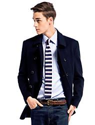 de doble botonadura de lana outwear-cachemira