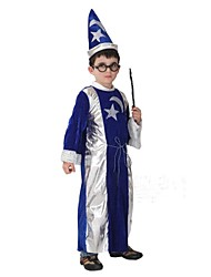 Magic Boy Blue and Silver Robe Kids Christmas Costume