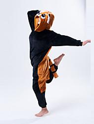 Mignon Raccon Brown et noir Polaire Pyjama Kigurumi Cartoon nuit animale Halloween Costume