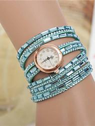Wutongshu Women's Shiny Beads Buckle Ornamental Watch