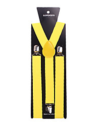Yellow Solid Nylon Suspender