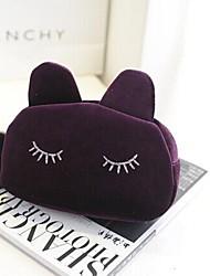 multi-função de gato dos desenhos animados cosméticos de lã em forma de saco de armazenamento