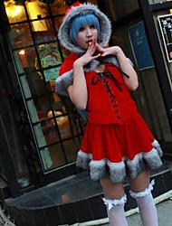 A Certain Magical Index Index Red Christmas Costume