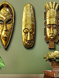 Metal Wall Art Wall Decor, The Golden Mask Wall Decor