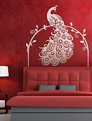 adesivos de parede decalques da parede, vintage pavão parede pvc etiquetas.