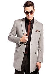Notch Lapel Outwear In Wool-cashmere&Polyester