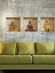 3d les murs de Bouddha autocollants stickers muraux