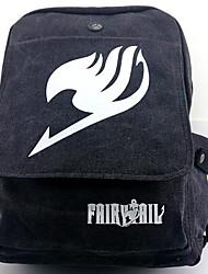 Fairy Tail mochila negro gris cosplay lienzo