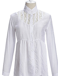 French Style Lace Long Sleeve Blouse White