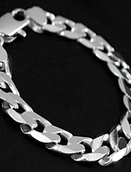12mm10 Inch Silver Plated Men's Bracelet